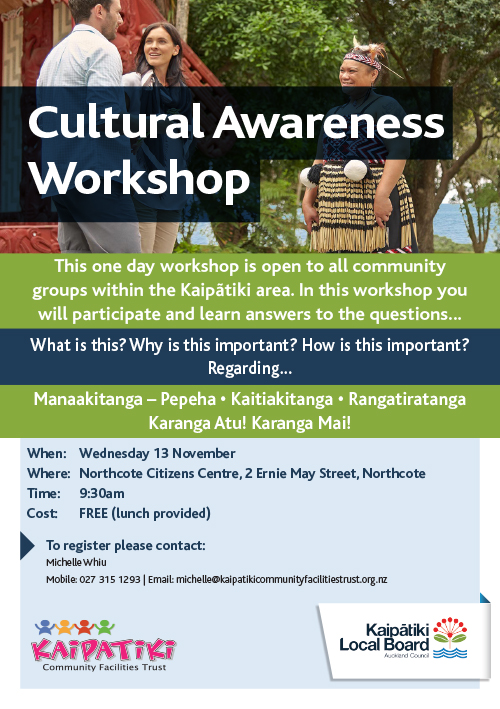 Cultural Awareness Workshop Flyer A5 2019