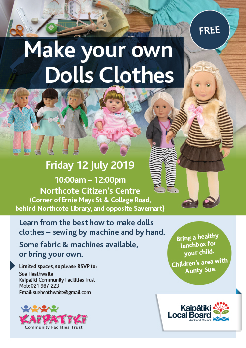 Making Dolls Clothes Workshop A5 Flyer Jul2019
