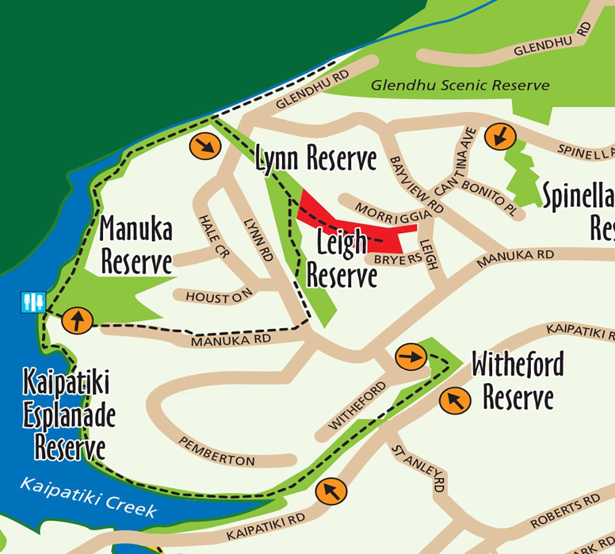 glenfield-coastal-walkway-map